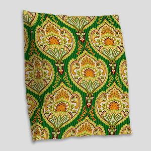 Ornate Pailsey Pattern Burlap Throw Pillow
