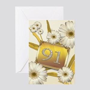 91st birthday card with lovely daisies Greeting Ca
