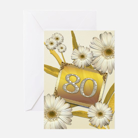 80th birthday card with lovely daisies Greeting Ca