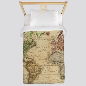 World map bed bath cafepress vintage map of the world 1831 twin duvet gumiabroncs Image collections