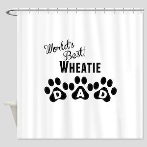 Worlds Best Wheatie Dad Shower Curtain