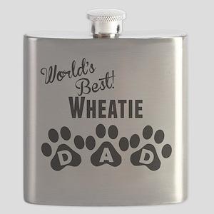 Worlds Best Wheatie Dad Flask