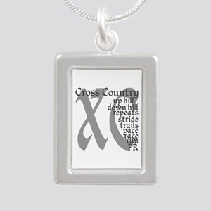 Cross Country XC grey gray Necklaces