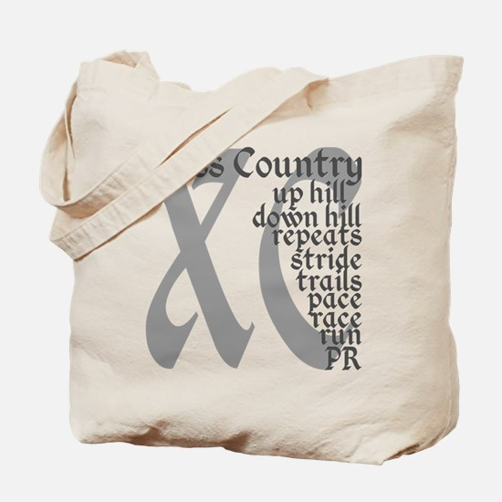 Cross Country XC grey gray Tote Bag