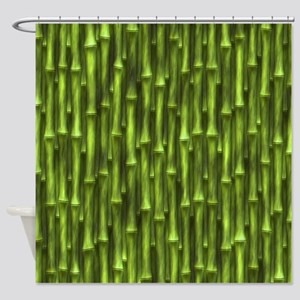 Green Bamboo Forest Shower Curtain