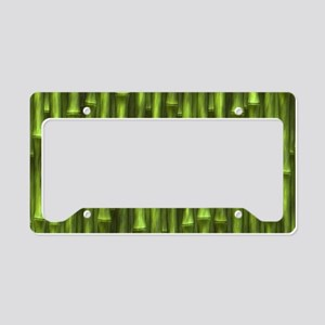 Green Bamboo Forest License Plate Holder