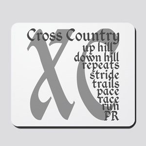 Cross Country XC grey gray Mousepad