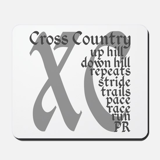 Cross Country XC grey gray Mousepad