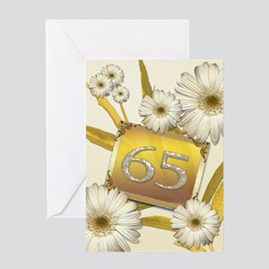 65th birthday card with lovely daisies Greeting Ca