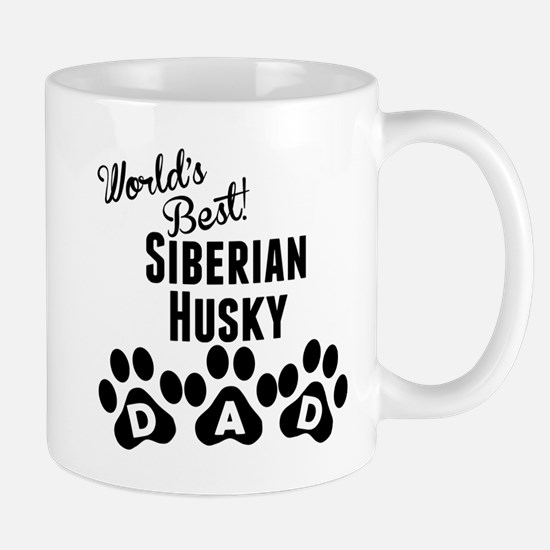 Worlds Best Siberian Husky Dad Mugs