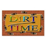Colorful Dirt Time Rectangle Sticker