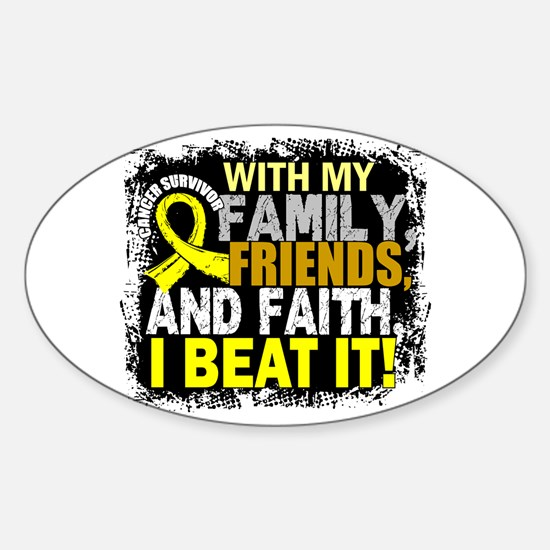 Ewing sarcoma survivor familyfriend sticker oval