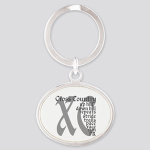 Cross Country XC grey gray Keychains
