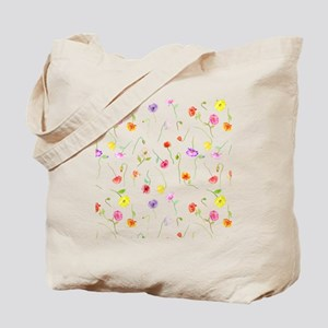 Watercolor Poppy Pattern Tote Bag