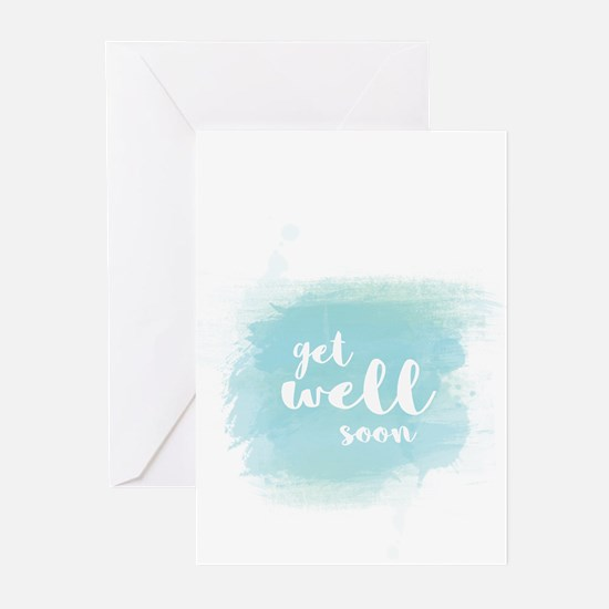Get well soon watercolor Greeting Cards