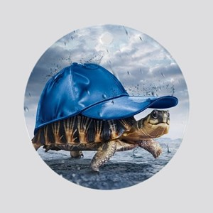 Turtle With Cap Ornament (Round)