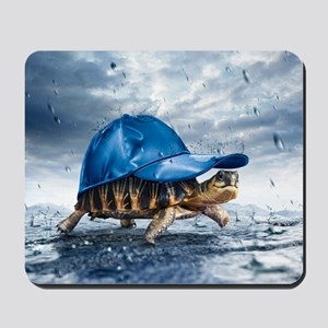 Turtle With Cap Mousepad