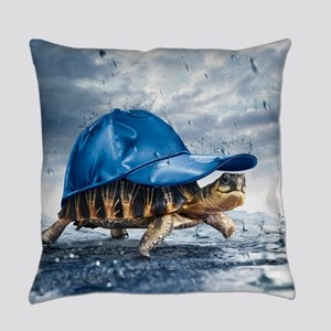 Turtle With Cap Everyday Pillow