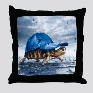 Turtle With Cap Throw Pillow