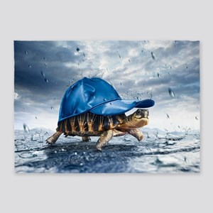 Turtle With Cap 5'x7'Area Rug