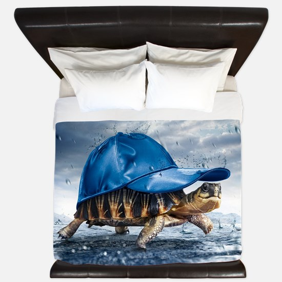 Turtle With Cap King Duvet
