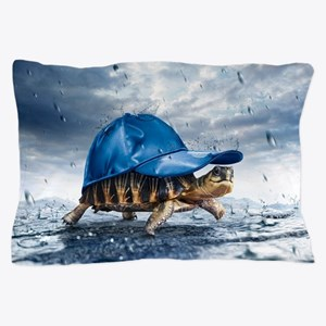Turtle With Cap Pillow Case
