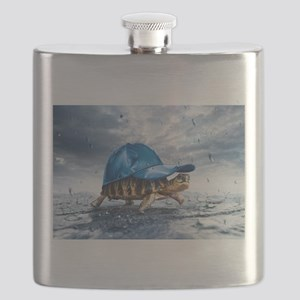 Turtle With Cap Flask