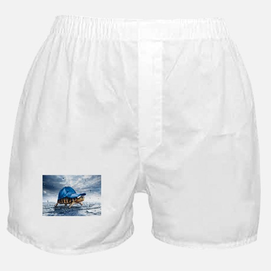 Turtle With Cap Boxer Shorts