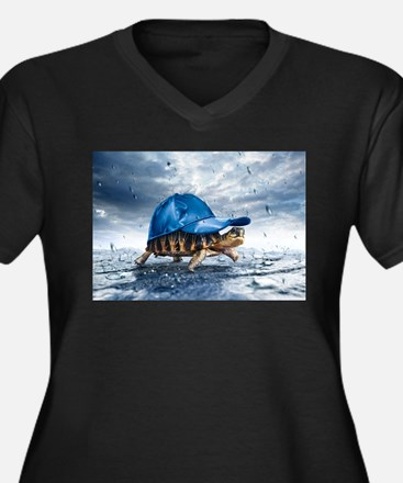 Turtle With Cap Plus Size T-Shirt