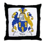 Vane Family Crest Throw Pillow