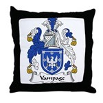Vampage Family Crest Throw Pillow