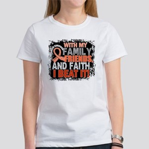 Endometrial Cancer Survivor Family Women's T-Shirt