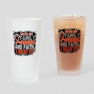 Endometrial Cancer Survivor FamilyF Drinking Glass