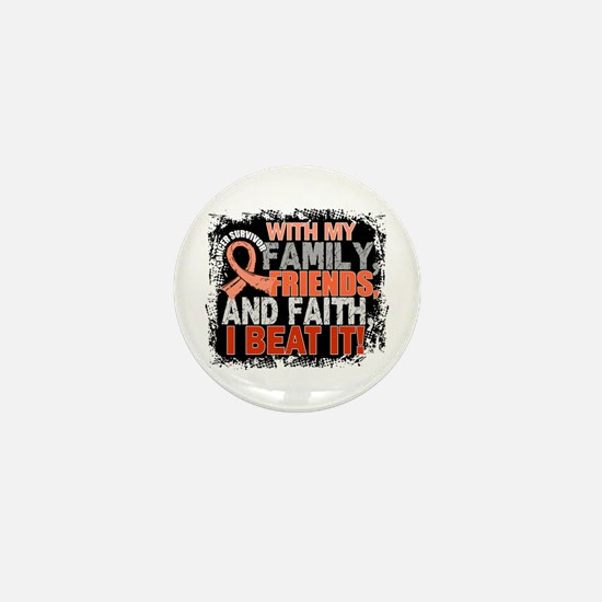 Endometrial Cancer Survivor FamilyFrie Mini Button