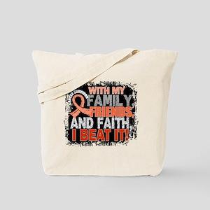 Endometrial Cancer Survivor FamilyFriends Tote Bag