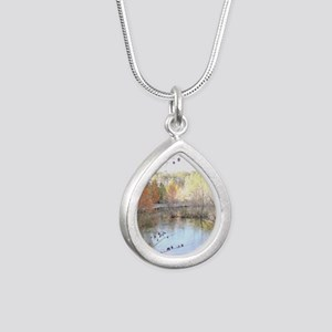 Skies Across the Pond Silver Teardrop Necklace
