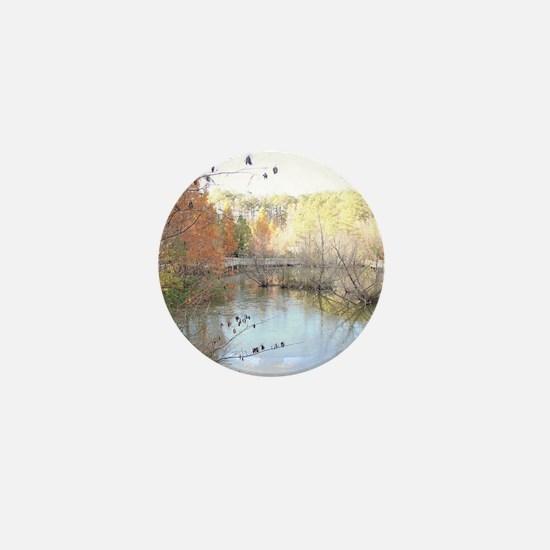Skies Across the Pond Mini Button