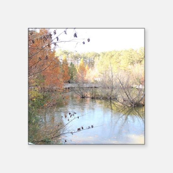 "Skies Across the Pond Square Sticker 3"" x 3"""