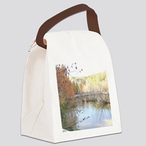 Skies Across the Pond Canvas Lunch Bag