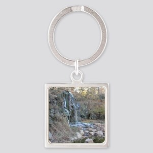 Bearly Iced Waterfall Square Keychain