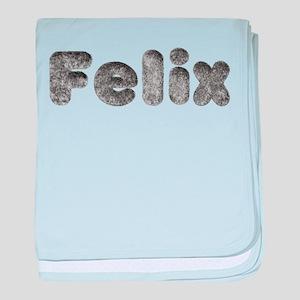 Felix Wolf baby blanket
