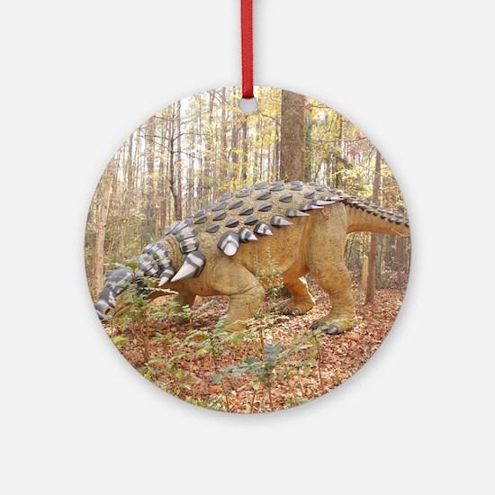 Spikey Sam Dinosaur Round Ornament