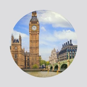 London Bridge And Big Ben Ornament (Round)