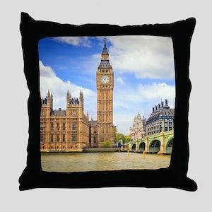 London Bridge And Big Ben Throw Pillow