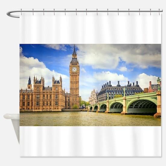 London Bridge And Big Ben Shower Curtain
