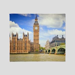 London Bridge And Big Ben Throw Blanket