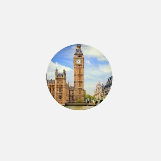 London Bridge And Big Ben Mini Button