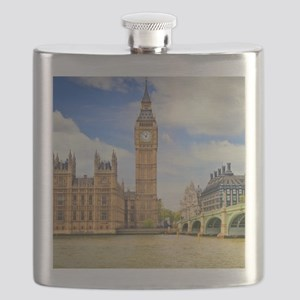London Bridge And Big Ben Flask