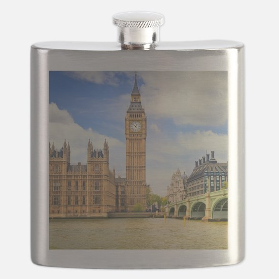 London Bridge And Big Ben Flask