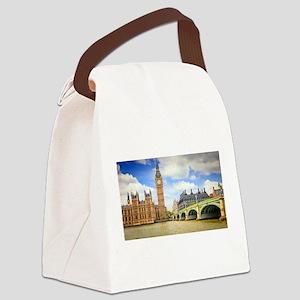 London Bridge And Big Ben Canvas Lunch Bag